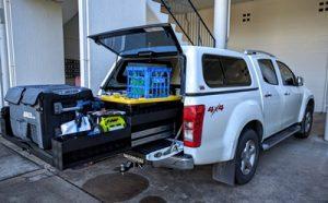 EziReach sliding cargo tray 400kg Isuzu DMax ipswich fitting
