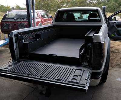 Ranger space cab sliding cargo tray high batterys tray in