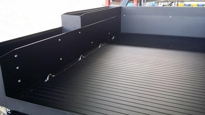Sliding cargo tray new tie downs