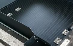 ute slide tray in floor tie downs