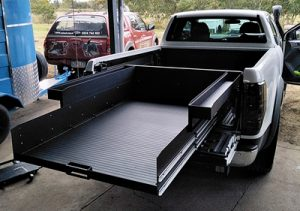Ranger space cab ute slide tray ezi reach