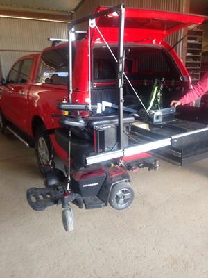 Ranger-ezi-reach-cargo-tray-with-side-slide-for-wheelchair