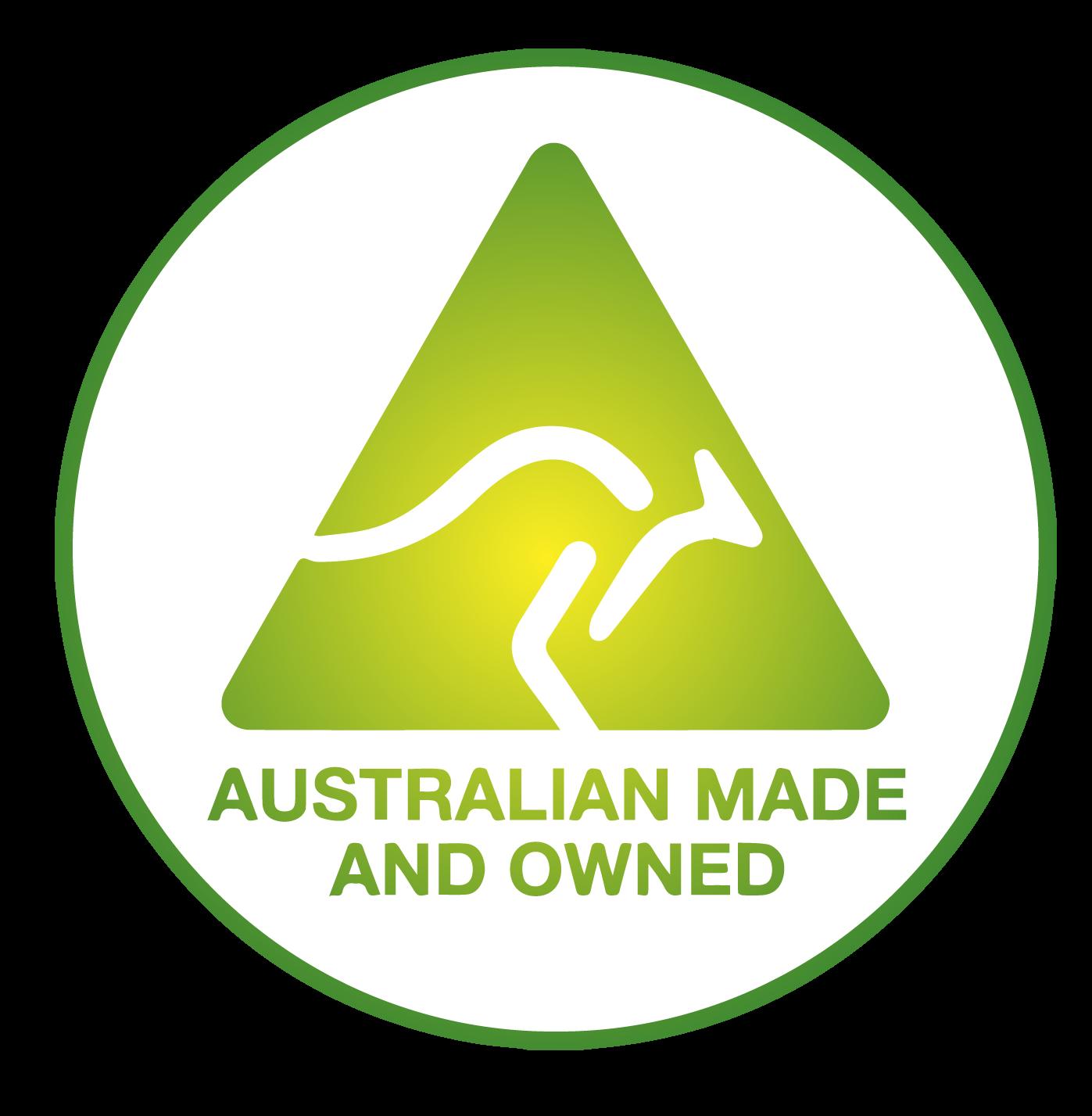 Australian Made Australian Owned Logo