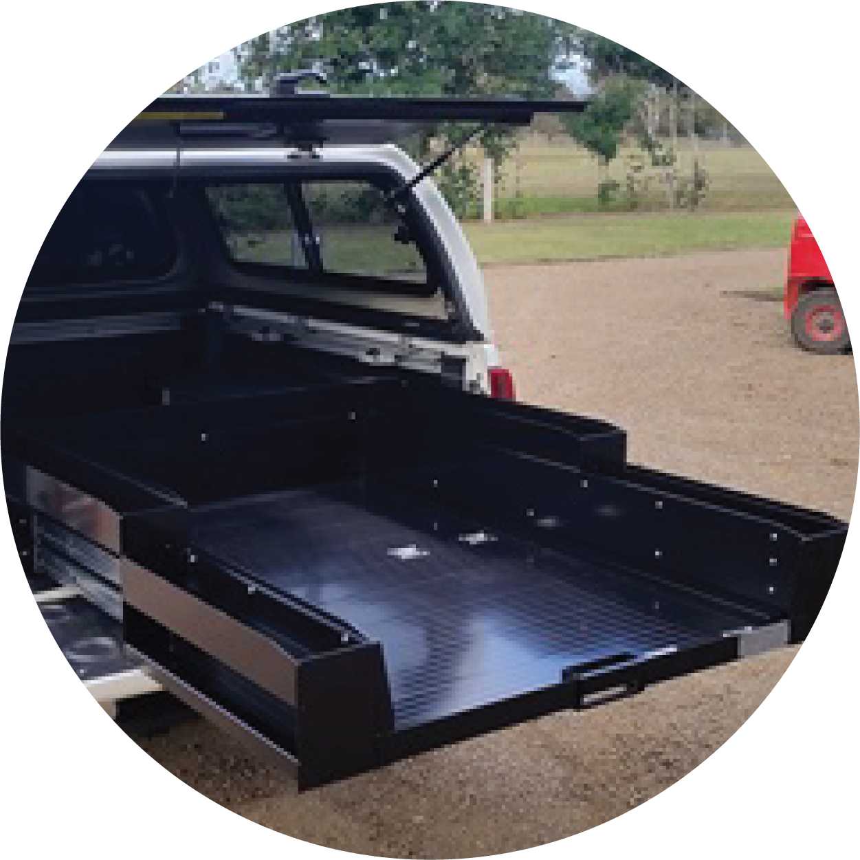 You might be interested in Sliding Cargo Trays