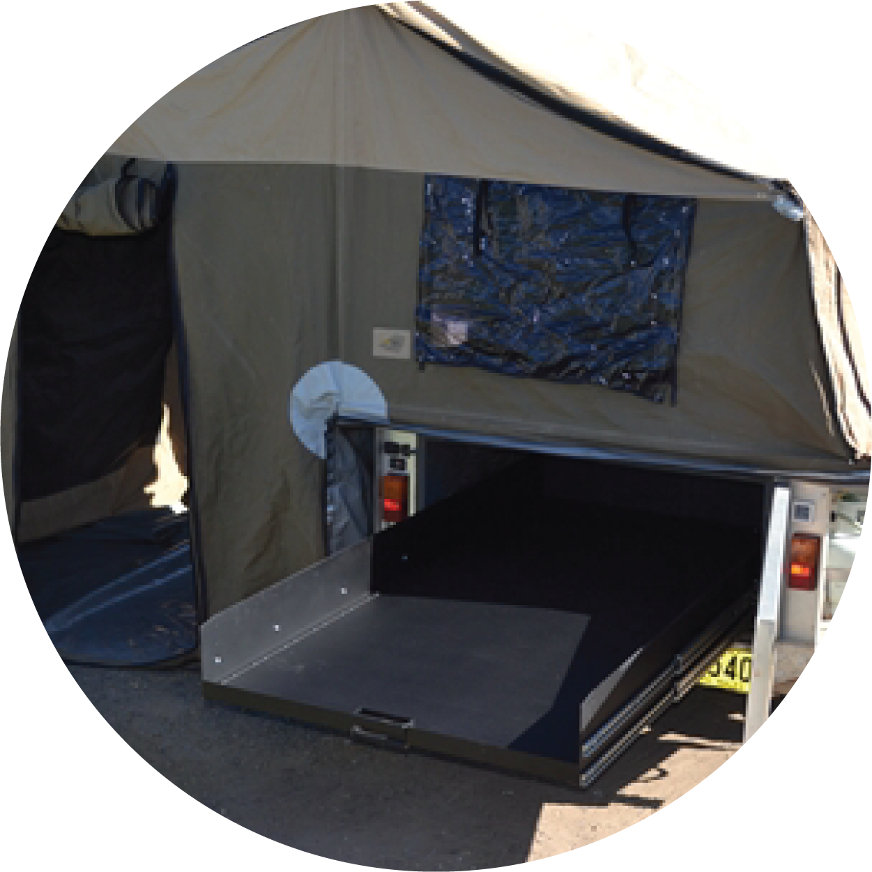 Ezi Reach Sliding Cargo Tray Custom Trays